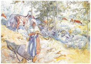 thumbnail Carl Larsson – Plate 8 [from A Farm: Paintings from a Bygone Age]
