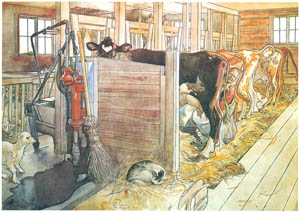 thumbnail Carl Larsson – Plate 9 [from A Farm: Paintings from a Bygone Age]