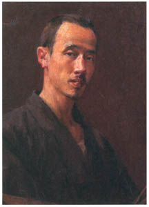 中澤弘光 – 自画像 (生誕140年 中澤弘光展-知られざる画家の軌跡-より)のサムネイル画像