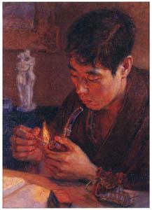 中澤弘光 – 非水像 (生誕140年 中澤弘光展-知られざる画家の軌跡-より)のサムネイル画像