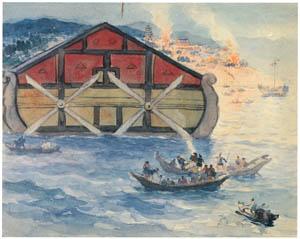 中澤弘光 – 海戦の図 (生誕140年 中澤弘光展-知られざる画家の軌跡-より)のサムネイル画像