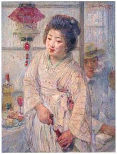 thumbnail Nakazawa Hiromitsu – Cafe Waitress [from Nakazawa Hiromitsu: Retrospective Exhibition of Commemorating the 140th Anniversaly of the Artist's Birth]