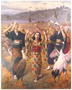 thumbnail Nakazawa Hiromitsu – Dance of Cranes [from Nakazawa Hiromitsu: Retrospective Exhibition of Commemorating the 140th Anniversaly of the Artist's Birth]