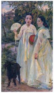 中澤弘光 – 歌姫 (生誕140年 中澤弘光展-知られざる画家の軌跡-より)のサムネイル画像