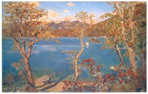 thumbnail Nakazawa Hiromitsu – Landscape (On the Shore of a Lake in Autumn) [from Nakazawa Hiromitsu: Retrospective Exhibition of Commemorating the 140th Anniversaly of the Artist's Birth]