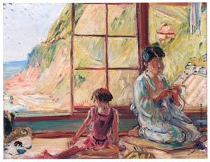 thumbnail Nakazawa Hiromitsu – Staying in Osenkorogashi [from Nakazawa Hiromitsu: Retrospective Exhibition of Commemorating the 140th Anniversaly of the Artist's Birth]