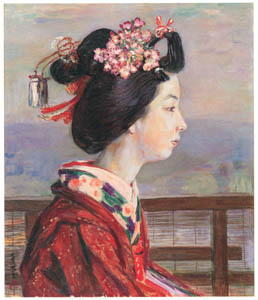 thumbnail Nakazawa Hiromitsu – Profile of a Dancing Girl (At the Riverside of the Kamogawa River with Spring Mists) [from Nakazawa Hiromitsu: Retrospective Exhibition of Commemorating the 140th Anniversaly of the Artist's Birth]