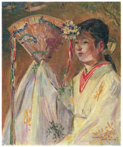 thumbnail Nakazawa Hiromitsu – Shrine Maiden of the Kasuga Shrine [from Nakazawa Hiromitsu: Retrospective Exhibition of Commemorating the 140th Anniversaly of the Artist's Birth]