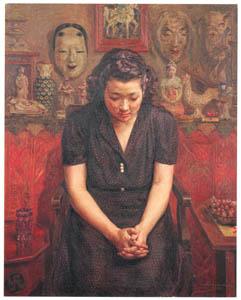 中澤弘光 – 静思 (生誕140年 中澤弘光展-知られざる画家の軌跡-より)のサムネイル画像