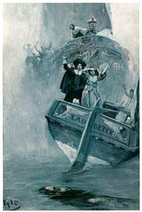 """thumbnail Howard Pyle – """"Let me go to him!!"""" she shrieked, in her anguish of soul (Sir Christopher) [from HOWARD PYLE]"""