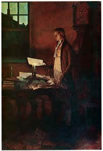 ハワード・パイル – 独立宣言を書くトーマス・ジェファーソン (HOWARD PYLEより)のサムネイル画像