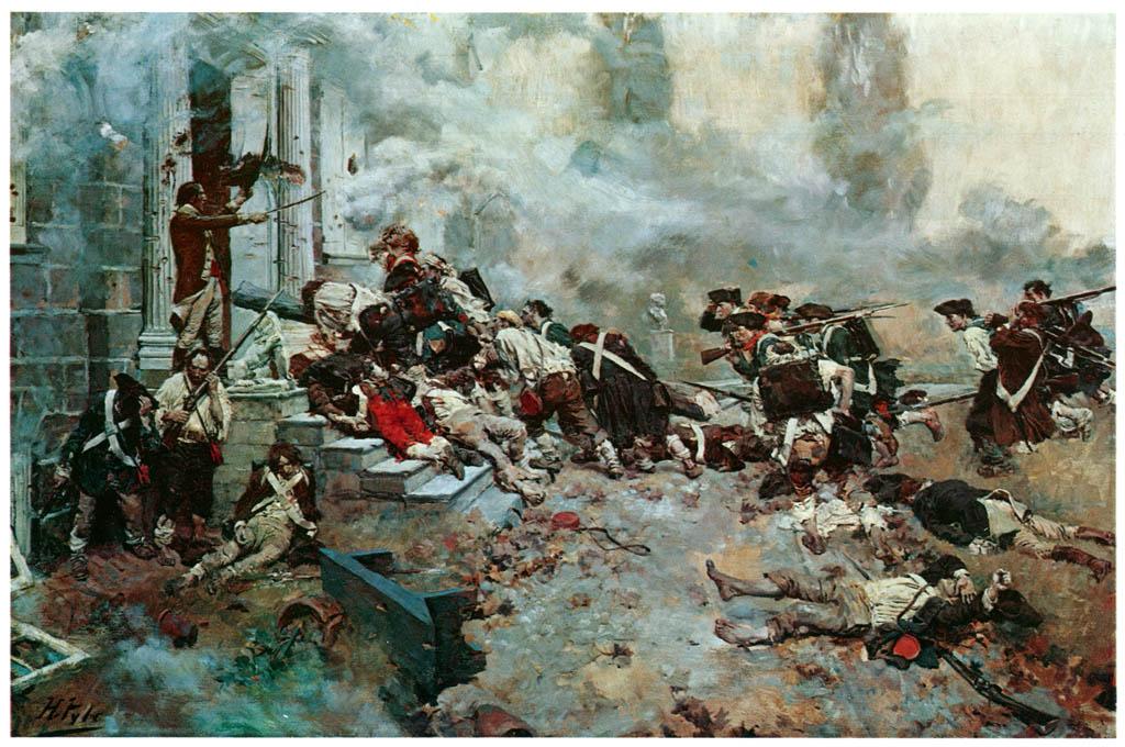 ハワード・パイル – ジャーマンタウンの戦い (HOWARD PYLEより) パブリックドメイン画像
