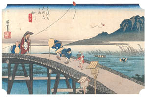 thumbnail Utagawa Hiroshige – 26th station : Kakegawa [from The Fifty-three Stations of the Tōkaidō (Hoeido Edition)]