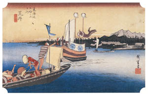 thumbnail Utagawa Hiroshige – 31st station : Arai [from The Fifty-three Stations of the Tōkaidō (Hoeido Edition)]