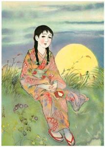 須藤しげる – 野菊にそへて・・・ (少女世界) (須藤しげる抒情画集より)のサムネイル画像