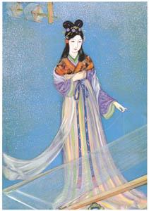 須藤しげる – たなばた姫 (少女倶楽部) (須藤しげる抒情画集より)のサムネイル画像