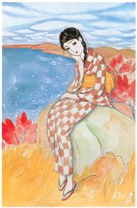 須藤しげる – 秋の湖畔 (令女界) (須藤しげる抒情画集より)のサムネイル画像