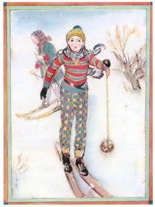 須藤しげる – スキー (須藤しげる抒情画集より)のサムネイル画像