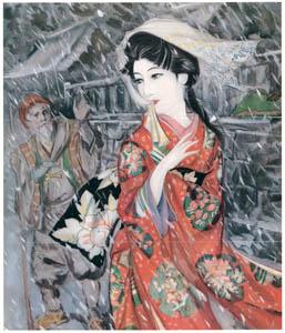 須藤しげる – 共鳴りの鐘 (少女倶楽部) (須藤しげる抒情画集より)のサムネイル画像