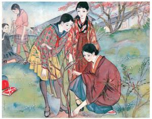 須藤しげる – 記念樹 (少女倶楽部) (須藤しげる抒情画集より)のサムネイル画像