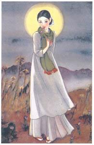須藤しげる – 月よりの使者 (婦人倶楽部) (須藤しげる抒情画集より)のサムネイル画像