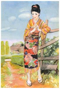 thumbnail Sudō Shigeru – Trifoliate Orange Flower [from Sudō Shigeru Lyric Art Book]
