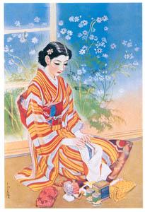 須藤しげる – 慰問袋 (令女界) (須藤しげる抒情画集より)のサムネイル画像
