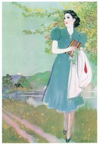 須藤しげる – 青い風 (令女界) (須藤しげる抒情画集より)のサムネイル画像