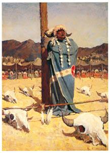 N・C・ワイエス – バッファローの群れへの祈り (黄金時代の画家たち アメリカン・イラストレーション展カタログより)のサムネイル画像