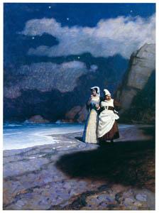 N・C・ワイエス – ローズ・ソルターンと白い魔女 (黄金時代の画家たち アメリカン・イラストレーション展カタログより)のサムネイル画像
