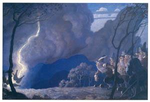 N・C・ワイエス – ボウリングをするノーム (黄金時代の画家たち アメリカン・イラストレーション展カタログより)のサムネイル画像