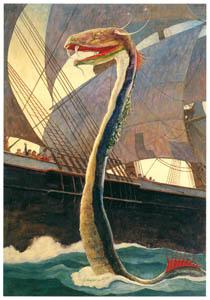 N・C・ワイエス – 大海蛇 (黄金時代の画家たち アメリカン・イラストレーション展カタログより)のサムネイル画像