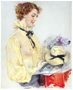 ハワード・チャンドラー・クリスティ – 新しい帽子 (黄金時代の画家たち アメリカン・イラストレーション展カタログより)のサムネイル画像