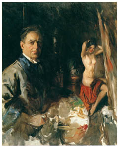 thumbnail Howard Chandler Christy – Self-Portrait with Model [from The Great American Illustrators]