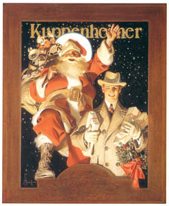 thumbnail J. C. Leyendecker – Merry Christmas from Kuppenheimer [from The Great American Illustrators]
