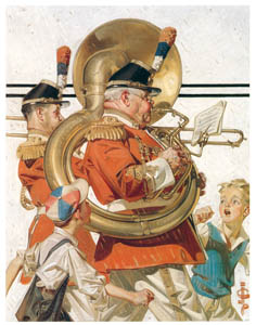 J・C・ライエンデッカー – 行進するブラス・バンド (黄金時代の画家たち アメリカン・イラストレーション展カタログより)のサムネイル画像