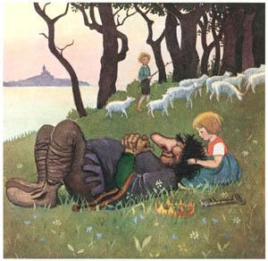 エルサ・ベスコフ – 挿絵7 (カイとカイサのぼうけんより)のサムネイル画像
