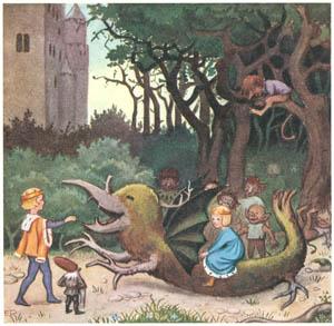 エルサ・ベスコフ – 挿絵14 (カイとカイサのぼうけんより)のサムネイル画像