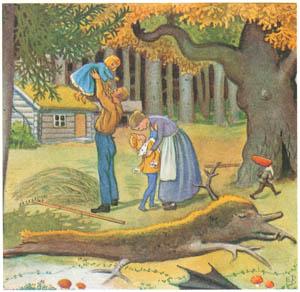 エルサ・ベスコフ – 挿絵15 (カイとカイサのぼうけんより)のサムネイル画像