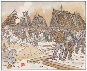 thumbnail Henri Rivière – Les Chantiers de la tour Eiffel [from Les Trente-six Vues de la tour Eiffel]