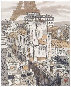 thumbnail Henri Rivière – Rue Beethoven [from Les Trente-six Vues de la tour Eiffel]