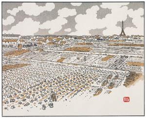 アンリ・リヴィエール – グルネルの菜園より (エッフェル塔三十六景より)のサムネイル画像