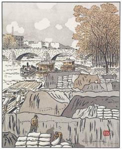 アンリ・リヴィエール – サン・ペール橋より (エッフェル塔三十六景より)のサムネイル画像