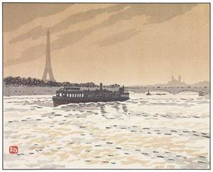 アンリ・リヴィエール – コンフェランス河岸より (エッフェル塔三十六景より)のサムネイル画像