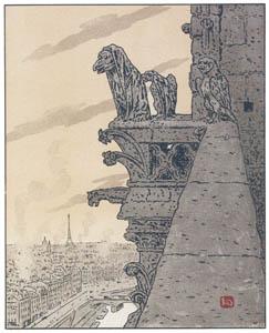 アンリ・リヴィエール – ノートル・ダム大聖堂より (エッフェル塔三十六景より)のサムネイル画像
