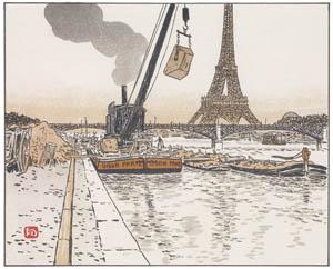 アンリ・リヴィエール – パッシー河岸より (エッフェル塔三十六景より)のサムネイル画像