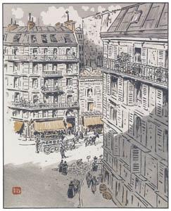 thumbnail Henri Rivière – De la rue Rochechouart [from Les Trente-six Vues de la tour Eiffel]