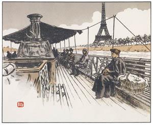 アンリ・リヴィエール – バトー・ムーシュにて (エッフェル塔三十六景より)のサムネイル画像