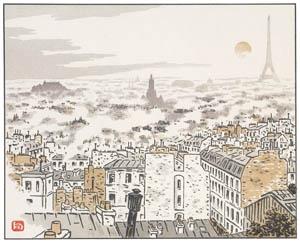 アンリ・リヴィエール – アベス通りより (エッフェル塔三十六景より)のサムネイル画像