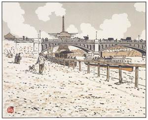 アンリ・リヴィエール – グルネル橋より (エッフェル塔三十六景より)のサムネイル画像